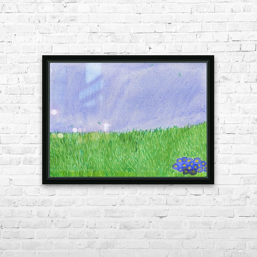 field of grass HD Sublimation Metal print with Decorating Float Frame (BOX)