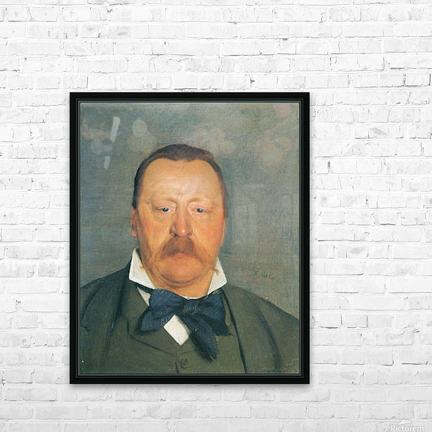 Portrait of Alfred Delisle by Felix Vallotton HD Sublimation Metal print with Decorating Float Frame (BOX)