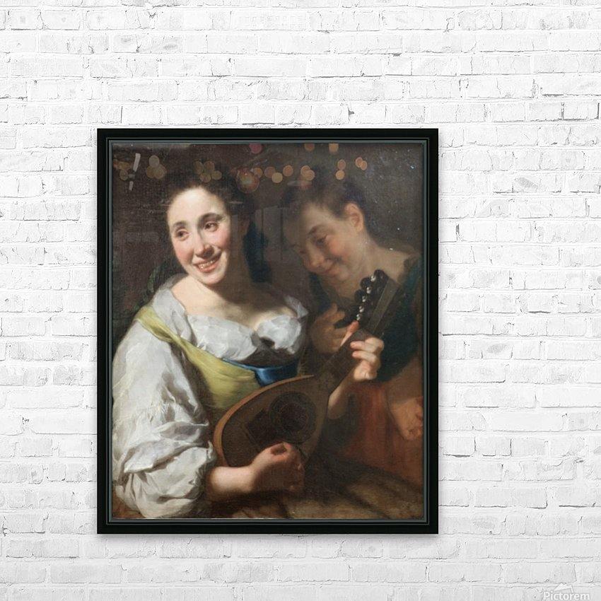 Mandolin player HD Sublimation Metal print with Decorating Float Frame (BOX)