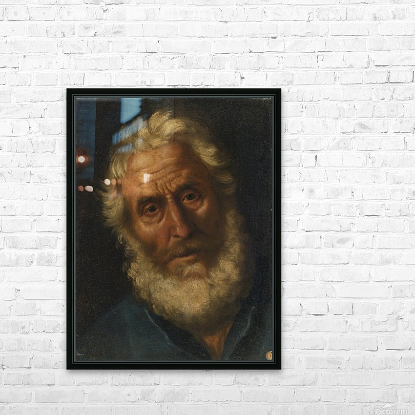 Head of a philosopher HD Sublimation Metal print with Decorating Float Frame (BOX)