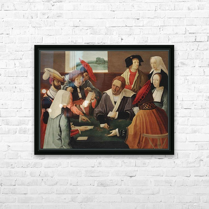The card players HD Sublimation Metal print with Decorating Float Frame (BOX)
