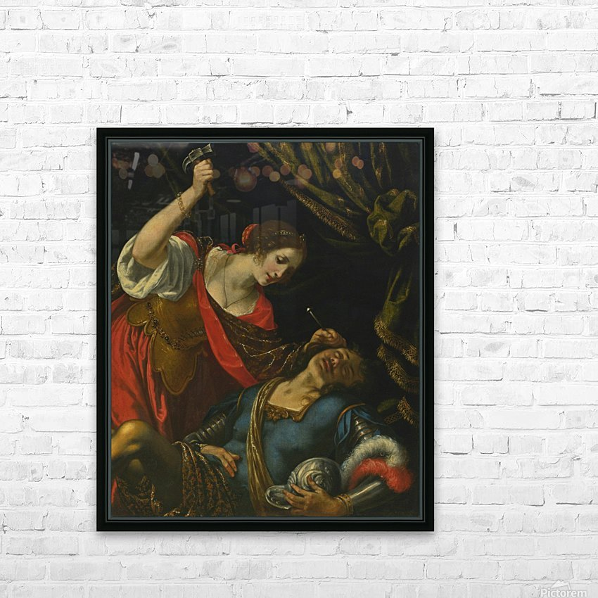 Jael and Sisera HD Sublimation Metal print with Decorating Float Frame (BOX)
