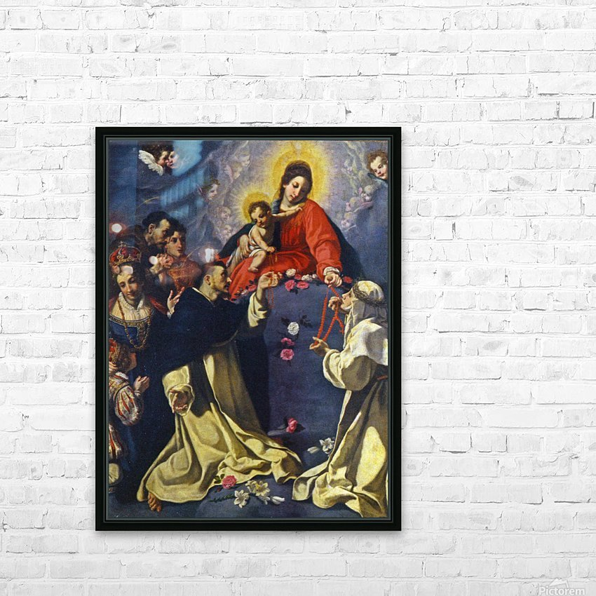 Madonna del Rosario HD Sublimation Metal print with Decorating Float Frame (BOX)