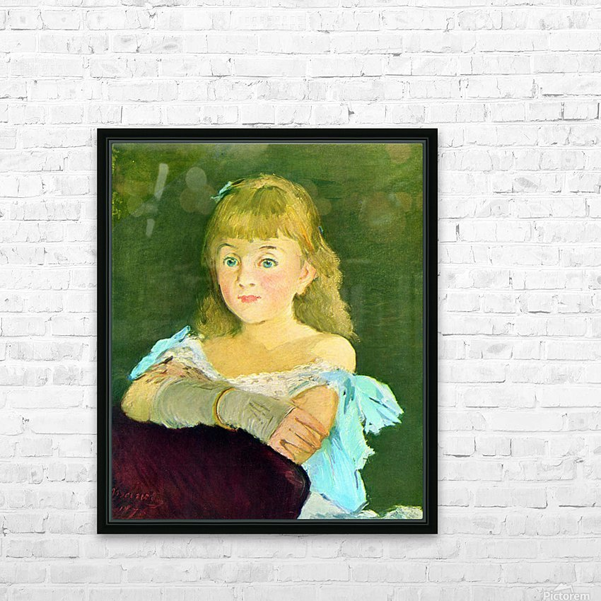 Portrait of Lina Campineanu by Manet HD Sublimation Metal print with Decorating Float Frame (BOX)