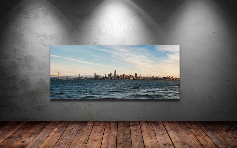 San Francisco City Skyline At Sunset  Art