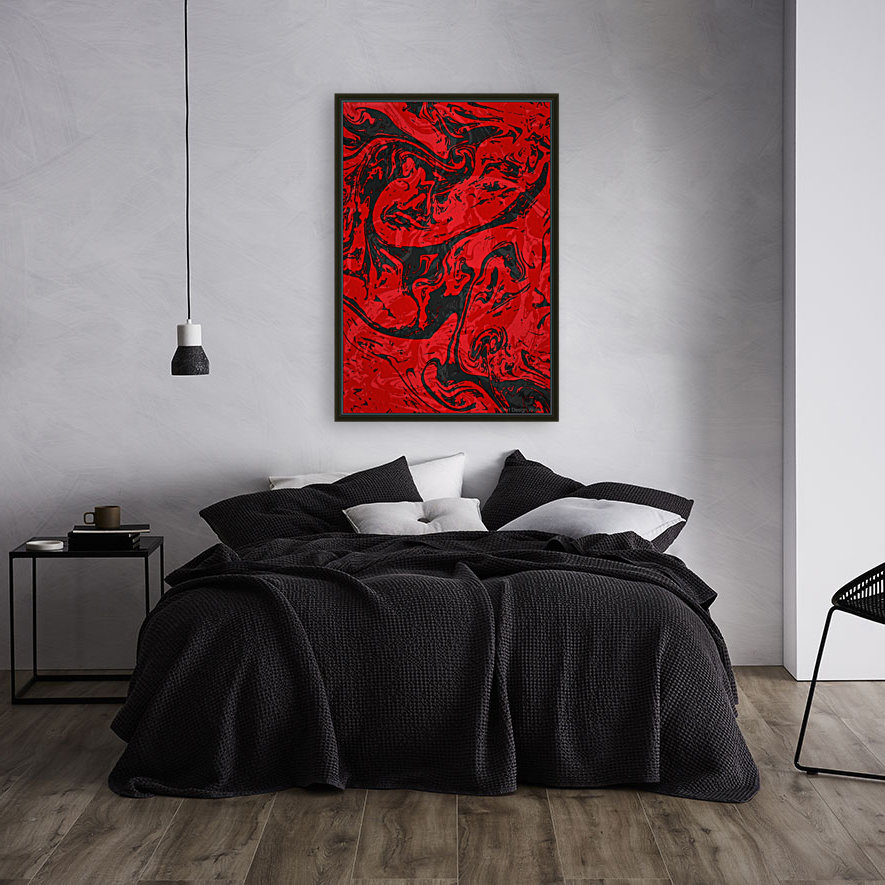 Black & Red Marble II  Art