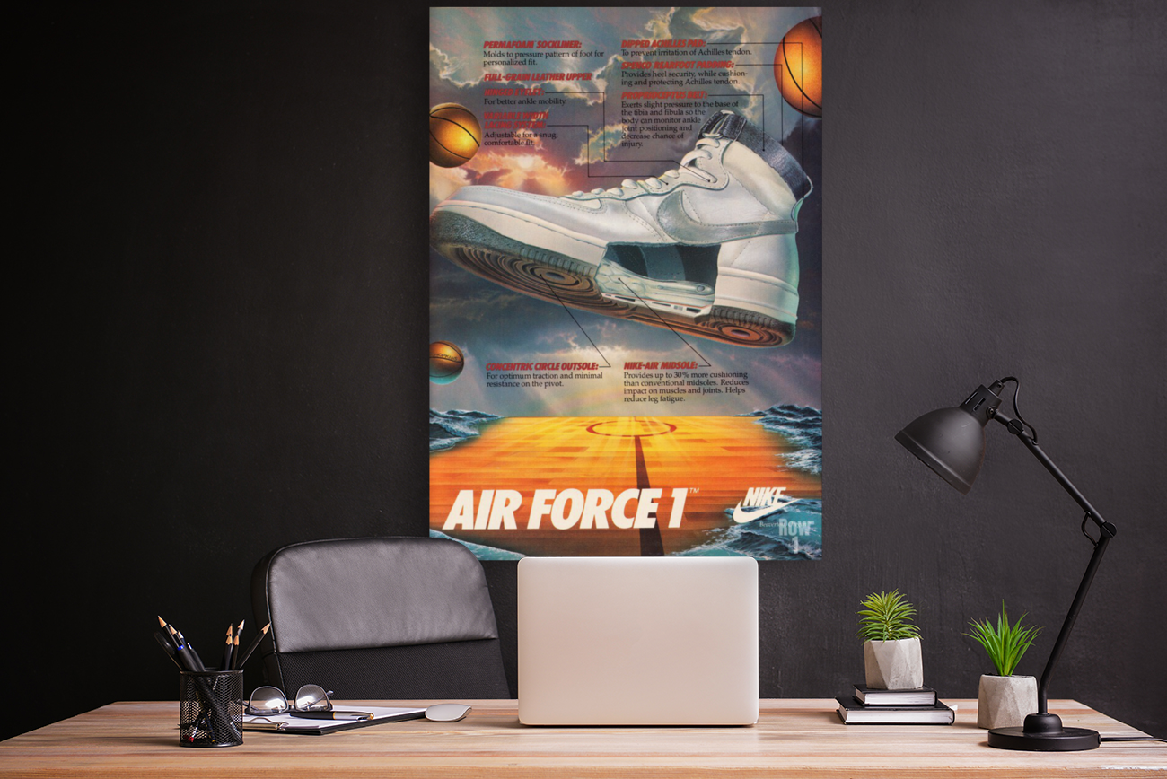 1984 Nike Air Force 1 Shoe Advertisement   Art
