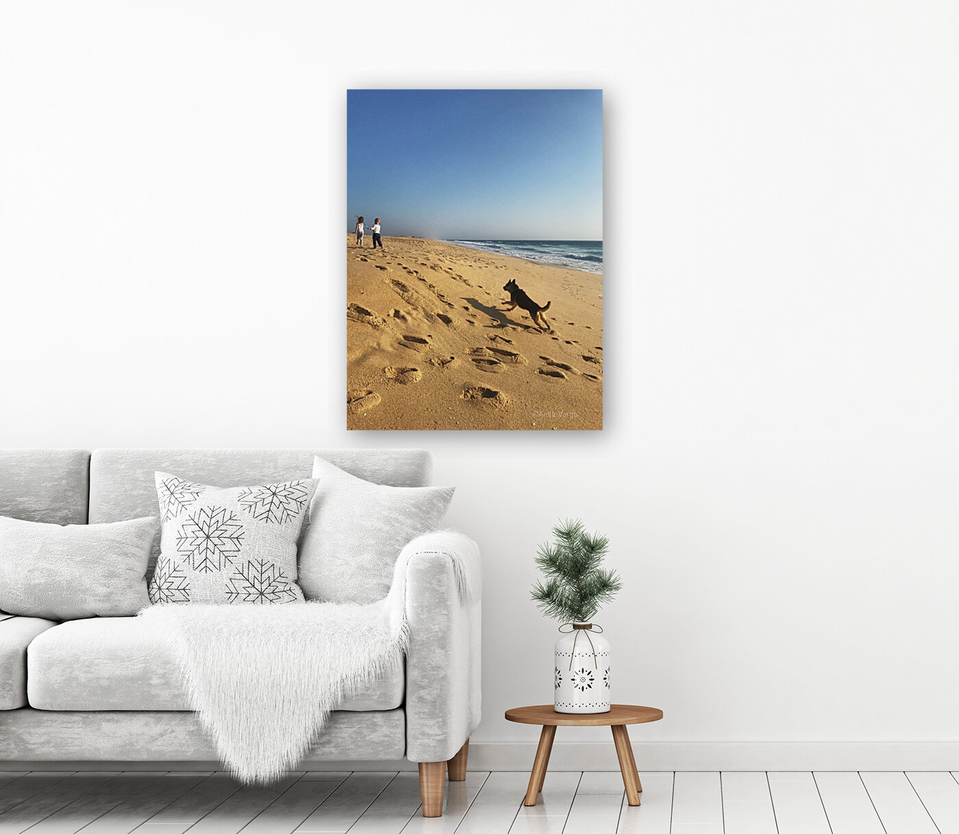 Dog and kids on the beach in Portugal  Art