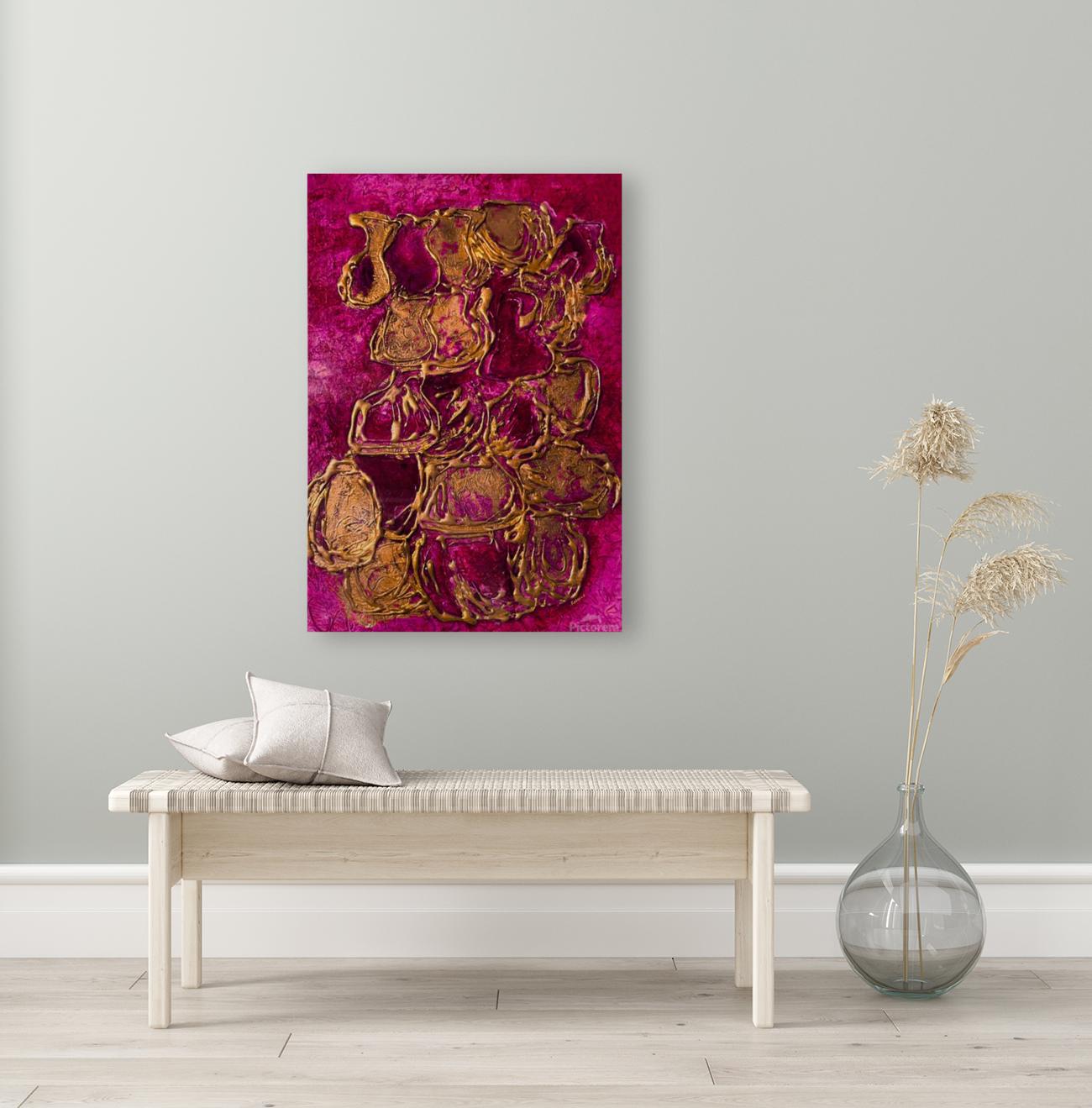 JARS - Original Abstract Acrylic Paint Printed on Canvas by: Rebecca Mangalindan  Art