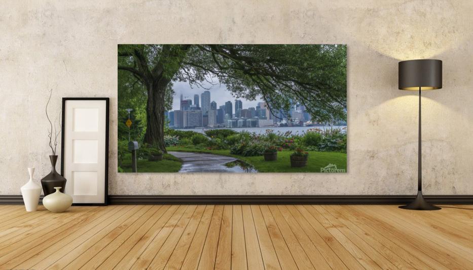 Downtown Toronto seen from Wards Island  Art