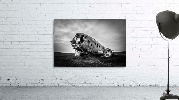 Plane wreck B&W