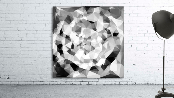 geometric polygon abstract pattern in black and white