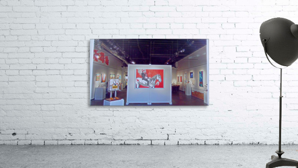 Gallery through the window Print