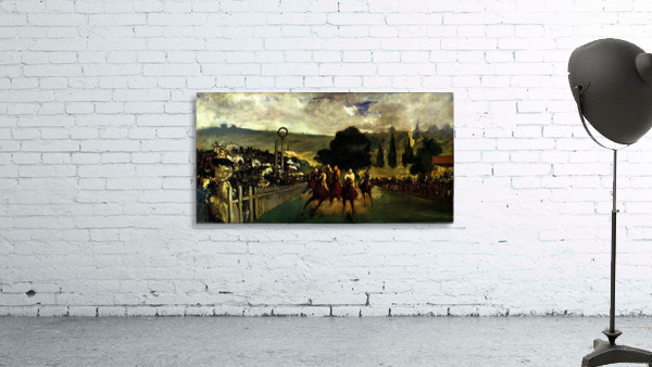 Race at Longchamp by Edouard_Manet
