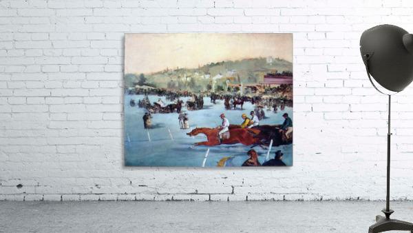 Races at the Bois de Boulogne by Manet