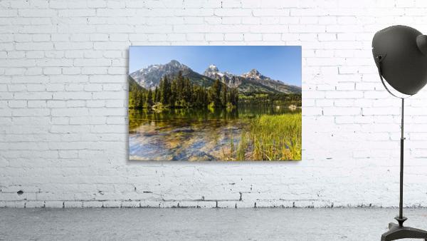 Taggart Lake and Grand Teton, Grand Teton National Park; Wyoming, United States of America