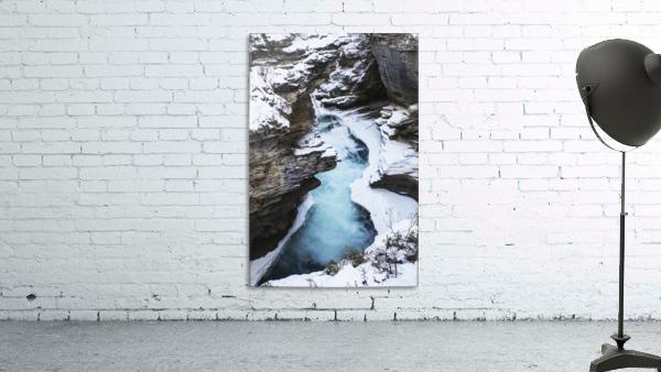 Athabasca Falls in winter, Jasper National Park; Alberta, Canada