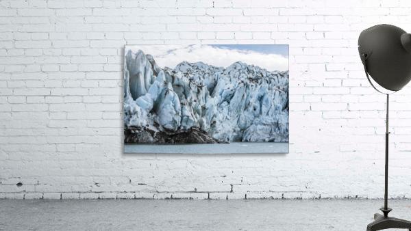 Front face of Colony Glacier, South-central Alaska; Alaska, United States of America