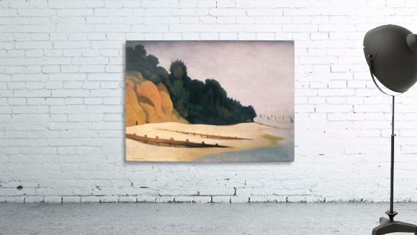 Shore scene with tree silhouette by Felix Vallotton