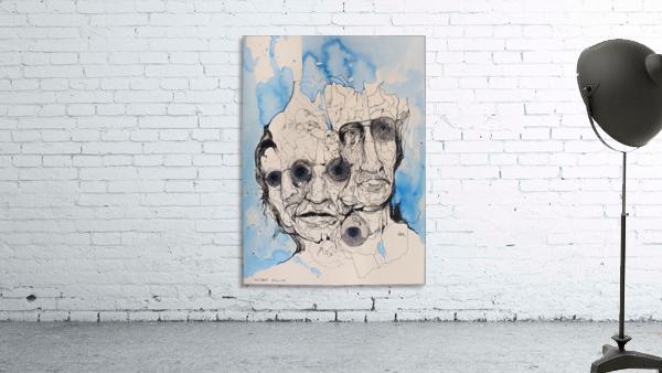 Illustration of a composite of men's faces