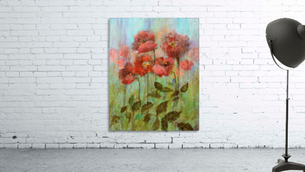 Poppies In Pastel Red