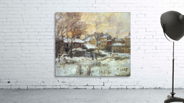 Snow at sunset, Argenteuil in the snow by Monet