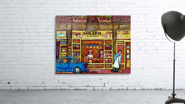 CHESKIES BAKERY RUE BERNARD MONTREAL STREET SCENE
