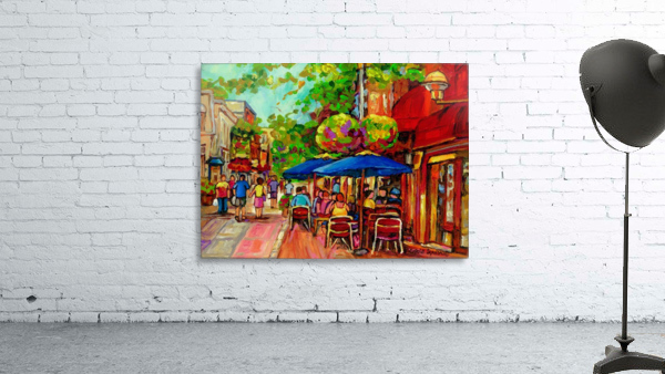 PRINCE ARTHUR CAFES MONTREAL SUMMER SCENE
