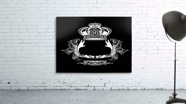 monogram crown  4 black