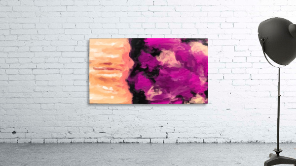 psychedelic splash painting abstract texture in pink purple black