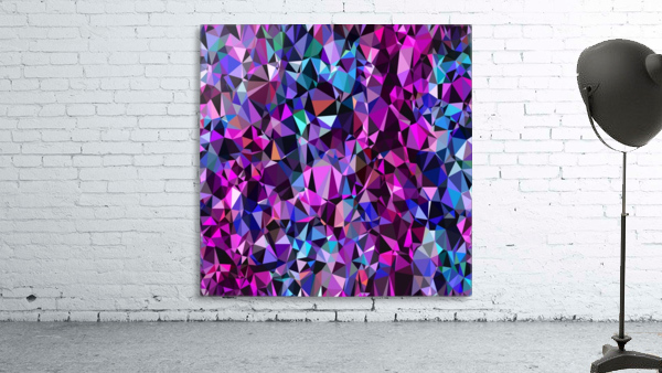 geometric triangle polygon pattern abstract in pink blue black