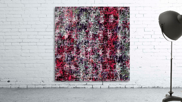 psychedelic abstract art pattern texture background in red pink black