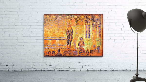 Study of the circus parade by Seurat