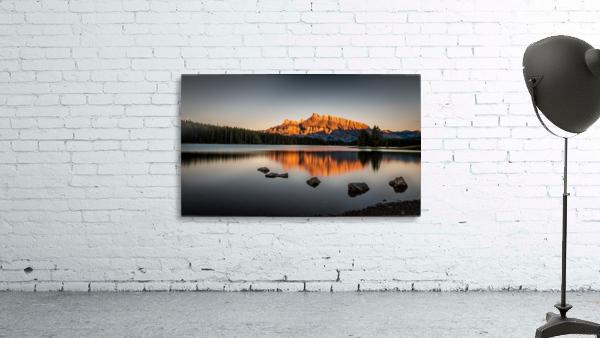 Rundle Mountain at TwoJacks Lake