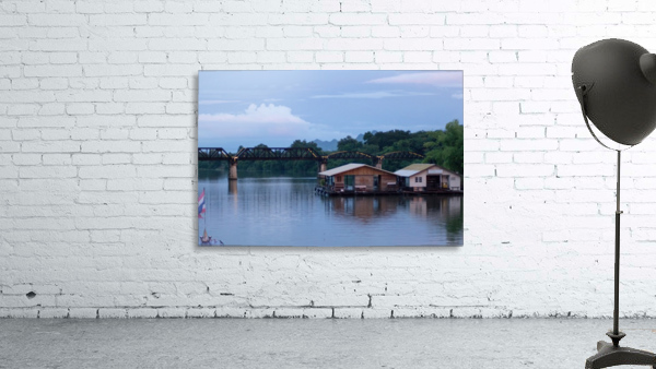 Boat trip on the river Kwai with sunset