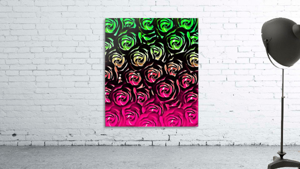 rose pattern texture abstract background in pink and green