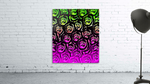 rose pattern texture abstract background in green and pink