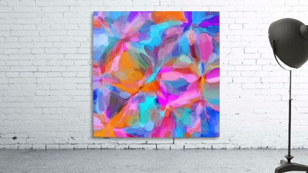 circle pattern abstract background in pink orange and blue