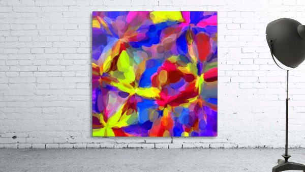 circle pattern abstract background in blue yellow red pink