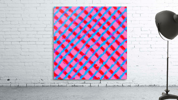 line pattern painting abstract background in pink red blue