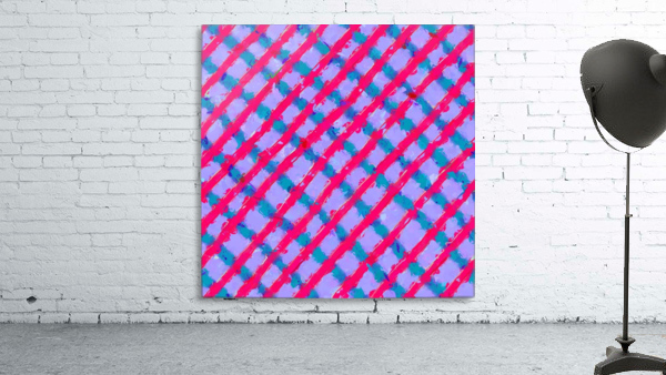 line pattern painting abstract background in red purple blue