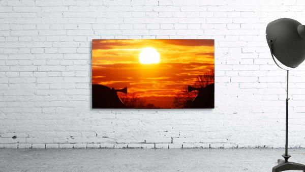 Train horn sunset