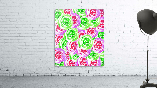 closeup rose pattern texture abstract background in pink red green