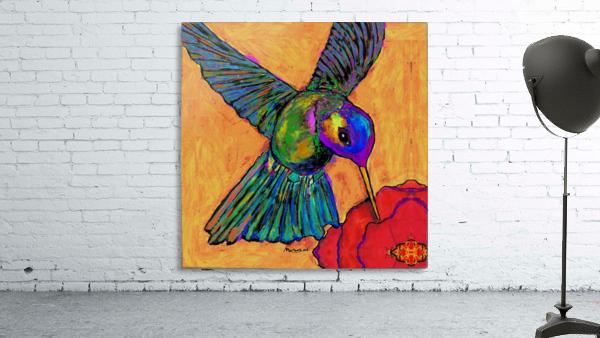 HUMMINGBIRD ON YELLOW