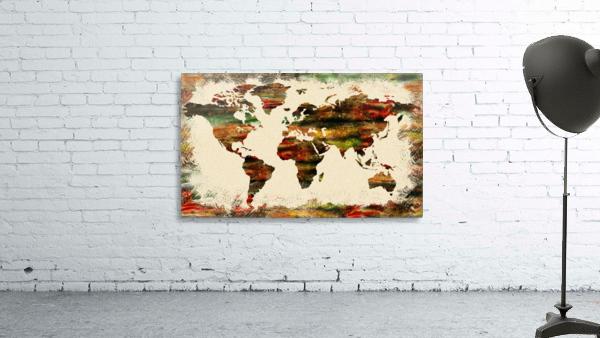 World Map Decorative Painting