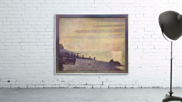 The mouth of the Seine at Honfleur, evening by Seurat