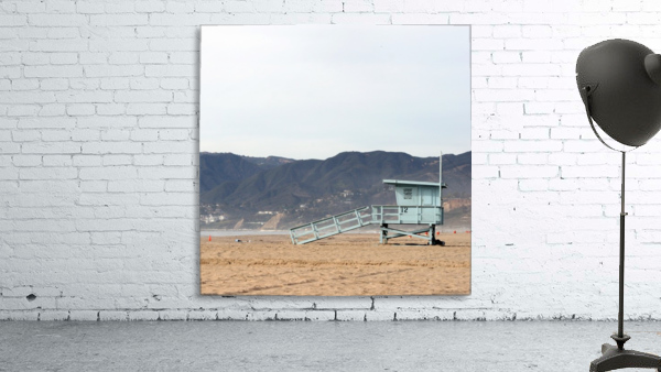 Lonely Lifeguard Tower at Beach