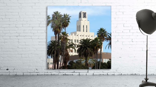 Clock Tower and Palm Trees