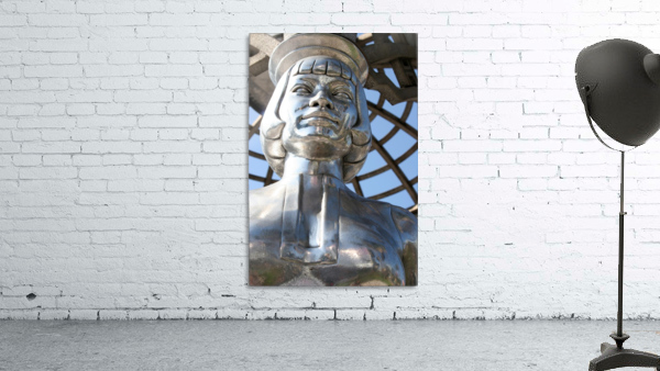 Silver Statue Face of Anna May Wong