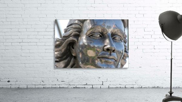 Face of Dolores Del Rio Silver Statue